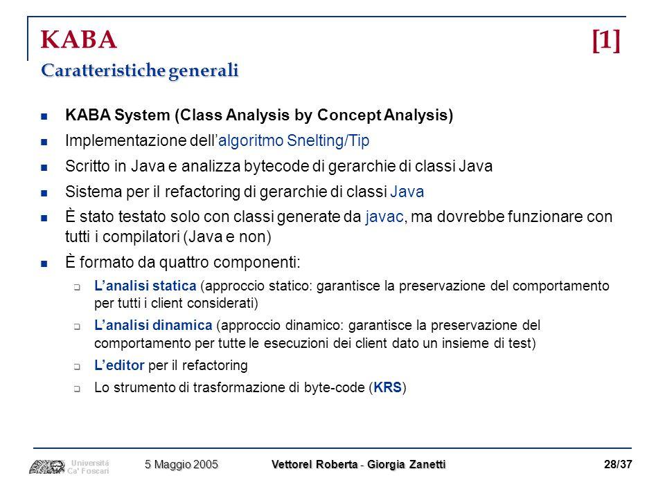 KABA [1] Caratteristiche generali